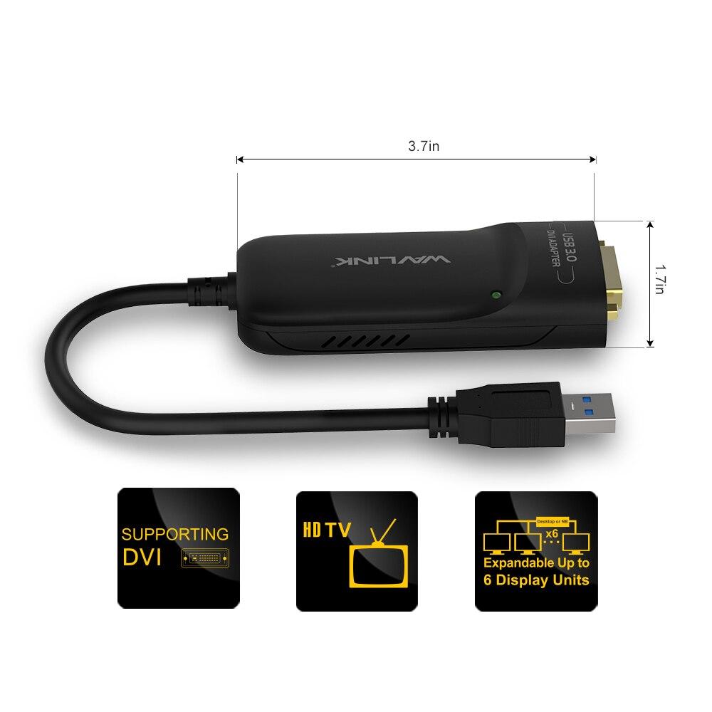 Wavlink USB 3.0- ից DVI Արտաքին վիդեո - Համակարգչային արտաքին սարքեր - Լուսանկար 2