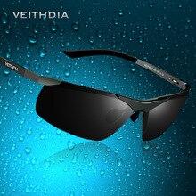 VEITHDIA Marka Tasarımcısı Alüminyum erkek Polarize UV400 Ayna Güneş Gözlüğü Çerçevesiz Dikdörtgen Erkek güneş gözlüğü Gözlük Erkekler Için 6501