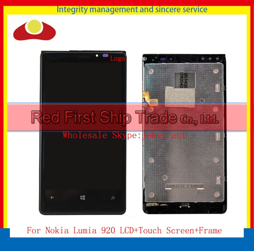 High Quality 4.5 For Nokia Lumia 920 Full Lcd Display Touch Screen Digitizer Sensor With Frame Assembly Complete Free Shipping духовой шкаф