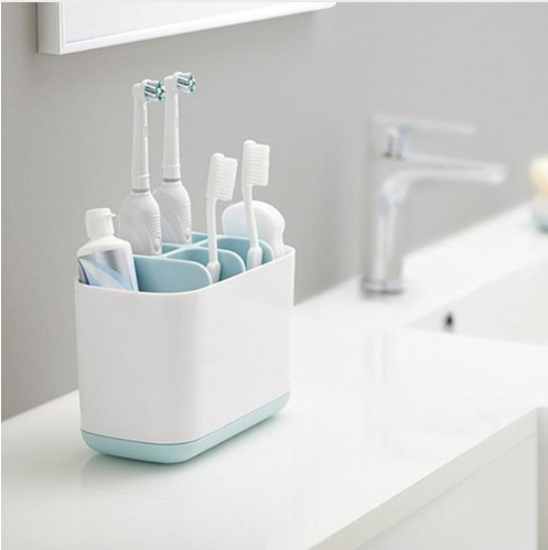 Homies Bathroom Easy-Store Toothbrush Caddy gray/Blue Large Electric toothbrush storage holder organizer organizer box image