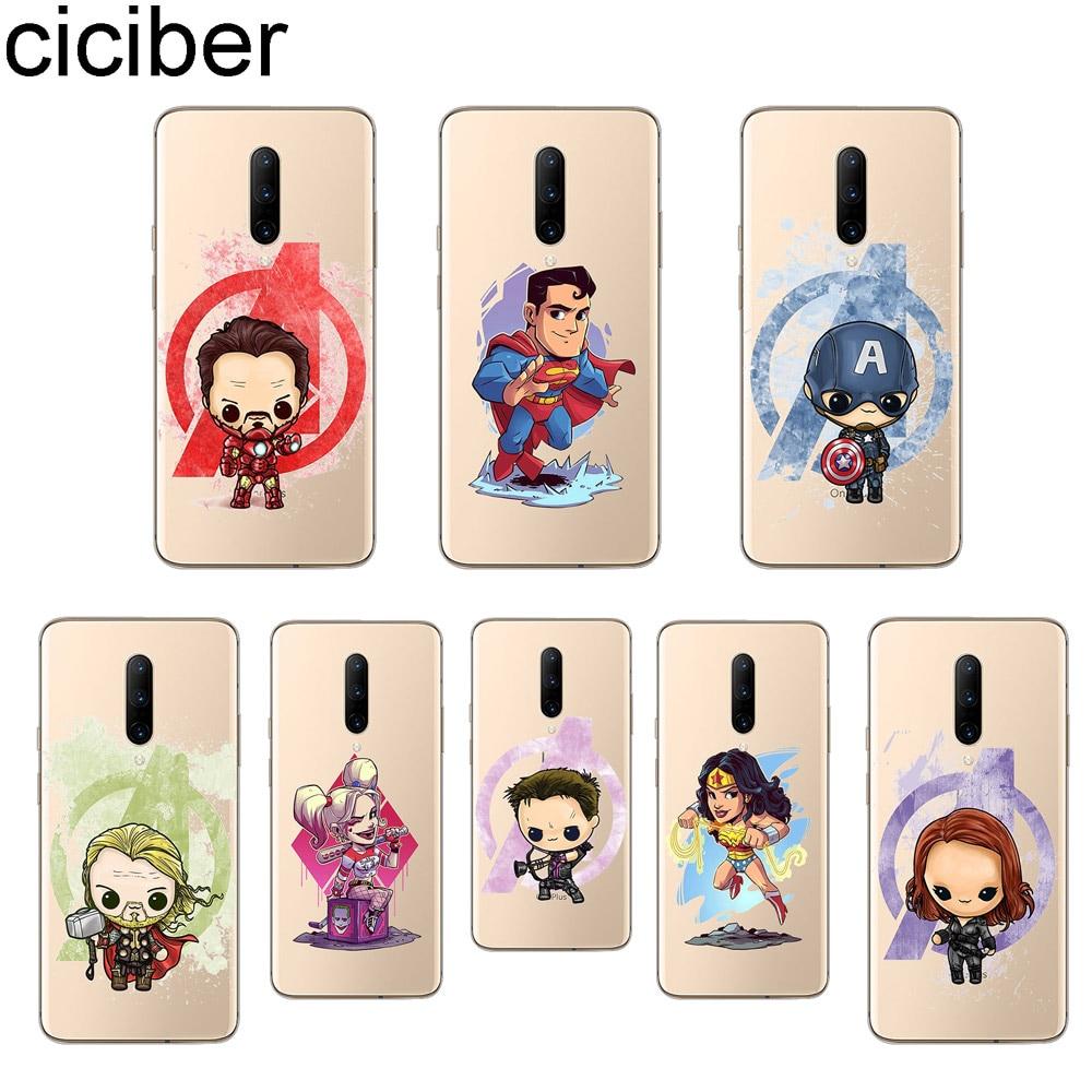 ciciber Cute Iron Man Phone Case For font b Oneplus b font font b 7 b
