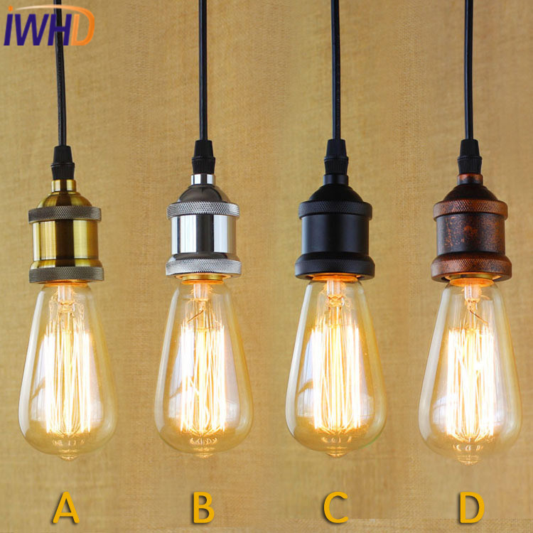 IWHD Style Loft Vintage Industral Lighting Pendant Lights American Iron Retro Lamp Bedroom Hanglamp e27 220v For Decor Lamparas iwhd loft style creative retro wheels droplight edison industrial vintage pendant light fixtures iron led hanging lamp lighting