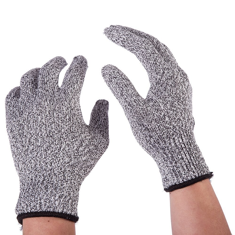 2e89af907d1 2 pairs HPPE material EN388 hand protective anti Cut Resistant Gloves Level  5 Industrial Safety work Gloves