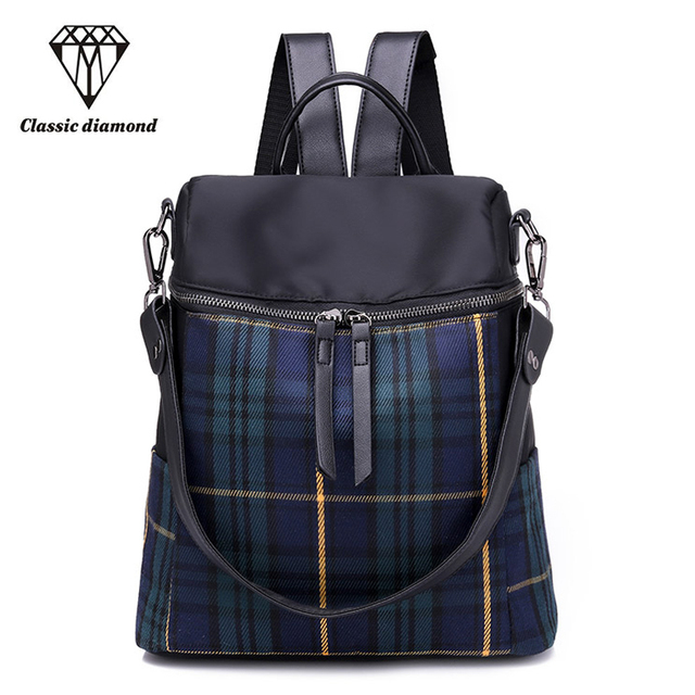 bf76357309e9 2018 New Fashion Women Backpack High Quality Youth Canvas Backpacks for  Teenage Girls School Shoulder Bag Female Bagpack mochila-in Backpacks from  ...