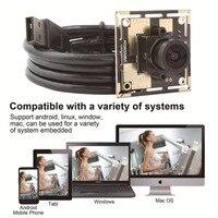 Módulo de câmera de 5MP 1/4 polegadas CMOS OV5640 Sensor De HD 2592x1944 Mjpeg YUY2 38x38 32x32mm motorista livre USB2.0 UVC webcam mini HD