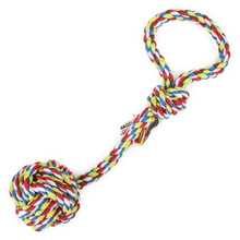 1PC Dog Toys Pet Products Rope Knot Ball For Teeth Cleaning Hand drawn Toy Interactive toys Small Medium Dogs