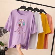 Harajuku T shirt Women Tshirt Summer Vintage Plus Size White Milk Silk Print Female T-Shirt Women Tops Tee Shirt Femme New 2019 drop shoulder milk print high low t shirt