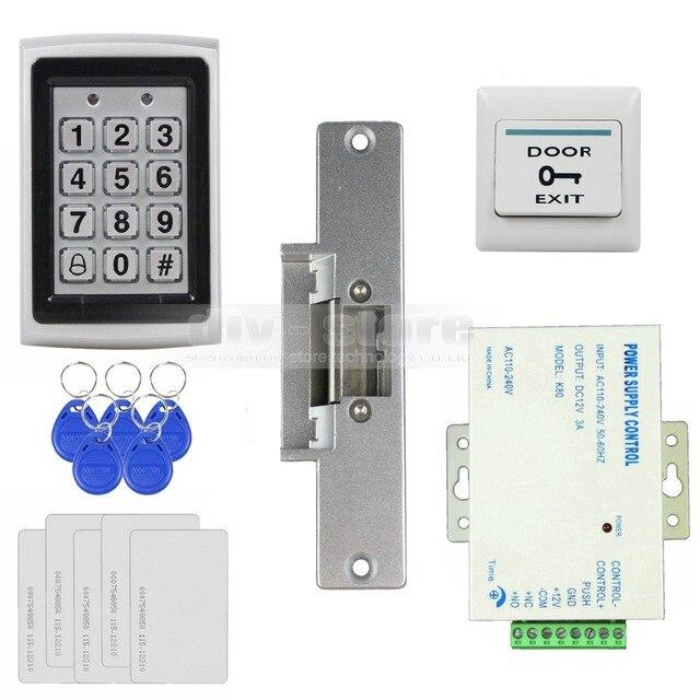 Diysecur 125khz Rfid Metal Case Keypad Door Access Control Security System Kit   Electric Strike