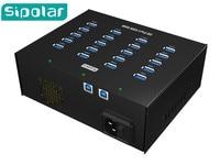 Box shape USB HUB,Sipolar well work 20 ports USB 3.0 HUB