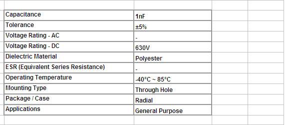 F027 16 2j102j Free Shipping 20pcs Polyester Film Capacitor 1nf 630v