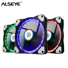 ALSEYE 120mm Computer RGB Fan Cooling Multicolor LED Fan Cooler / Water Cooling Fans 1100RPM PC Case Light