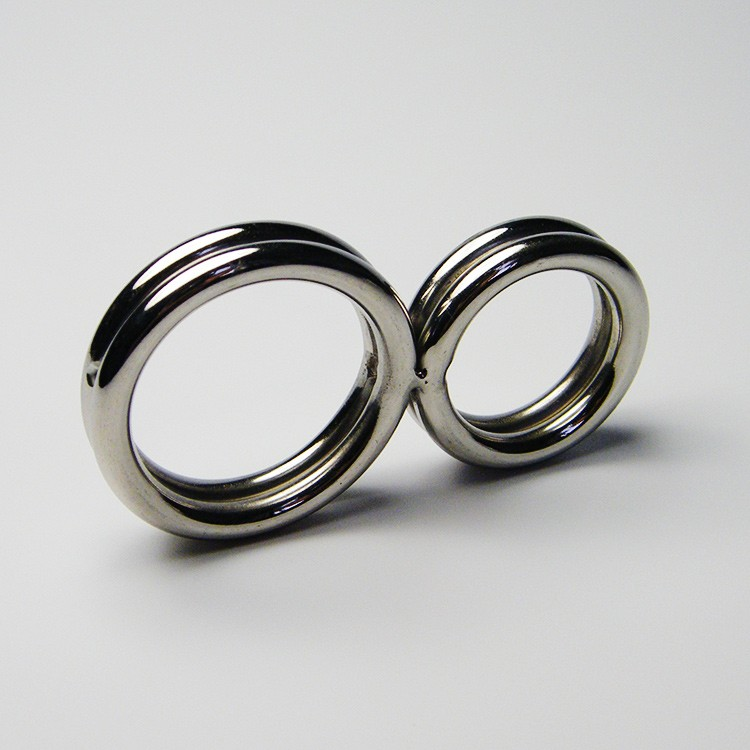 Male Chastity Stainless Steel Delay 2-Rings Penis Cock Rings Sexy Products In Adult Games1