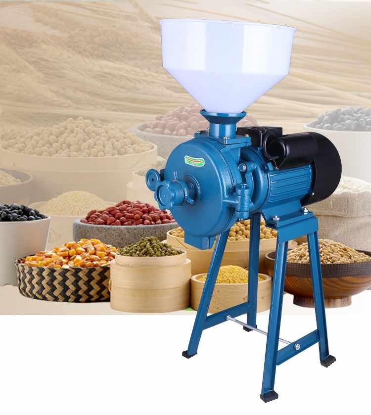 220V Commercial Miniature Ultra-Fine Grinding Machine for Dry and Wet Dual Purpose of Grain and Miscellaneous Grains