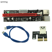 100pcs PCI E PCI E Express 1X To 16X Riser Extender Card SATA 15 Pin 6