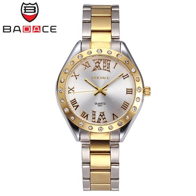 Fabuleux BADACE Marque De Luxe Suisse Montre Femme Horloge Étanche Or  ZY11