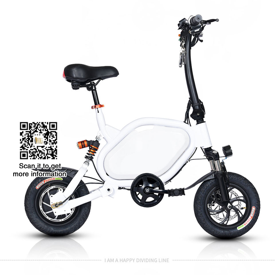 Mini type Electric bicycle adult female mini battery folding power electric bike with pedal Lahore