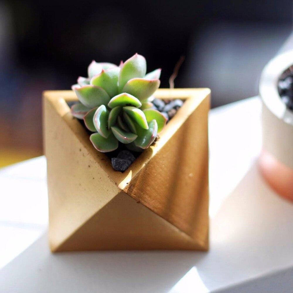 Geometric Flower Pot Concrete Mold Silicone Pot Mold Concrete Molds For Garden Pot