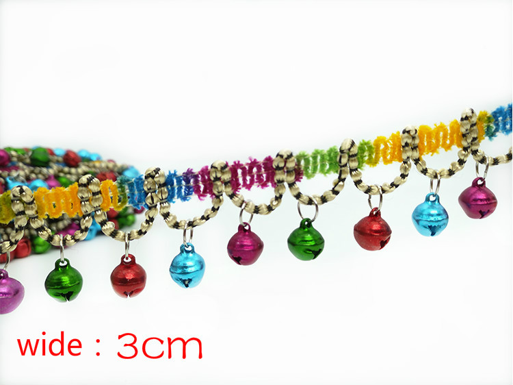 2 meters 3CM Clothing accessories DIY head ornaments accessories Small bell lace tassel in Tassel Fringe from Home Garden