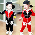 1-4Y New kids clothes boys sport suit children clothing set cotton baby girls boys tracksuit minnie toddler girl clothing