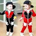 1-4Y Nuevos niños de la ropa chándal del juego del deporte niños que arropan el sistema de los bebés del algodón minnie de la muchacha del niño ropa