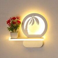 Arte Sala de cabeceira Lâmpada de Parede de Acrílico Simples Moderna Iluminação Criativa Quarto das Crianças Decoração Luz Conduzida Da Parede