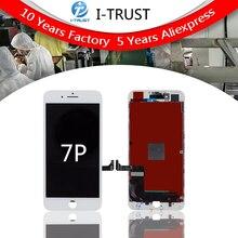 10 pcs AUO Grau UM +++ LCD Para iPhone 7 Plus Substituição LCD Touch Screen Digitador Assembléia de Exibição Não Morto pixel Frete grátis