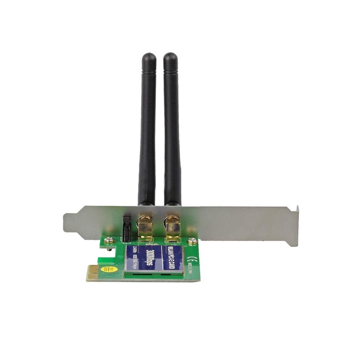 300Mbps Wireless N WIFI PCI Network Adapter Card Lan Dongle + Antenna Desktop PC