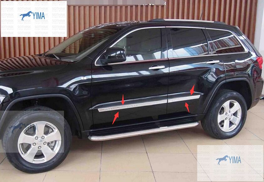 protector for jeep grand cherokee 2011 2013 abs door side body molding. Cars Review. Best American Auto & Cars Review