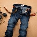 Outono Inverno SU LEE Clássico Jeans Reta calças de Brim Calças De Brim do Desenhador Dos Homens Casuais Famosa Marca de Alta Qualidade Plus Size 40