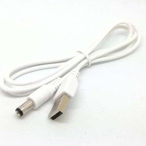 Image 3 - Nouveau blanc PC portable USB mâle à 5V DC 5.5mm x 2.1mm baril connecteur câble dalimentation chargeur câble