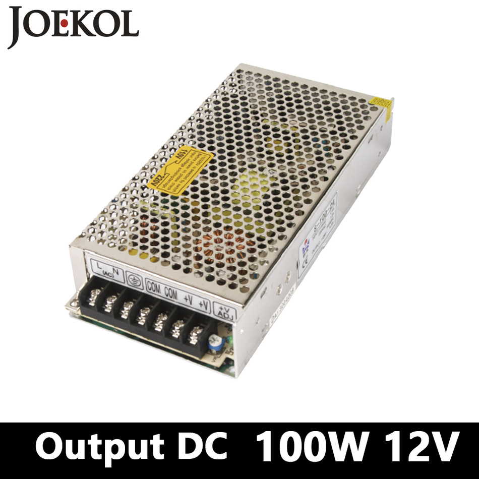 switching power supply 100W 12v 8A,Single Output ac-dc voltage converter for Led Strip,AC110V/220V Transformer to DC 12V