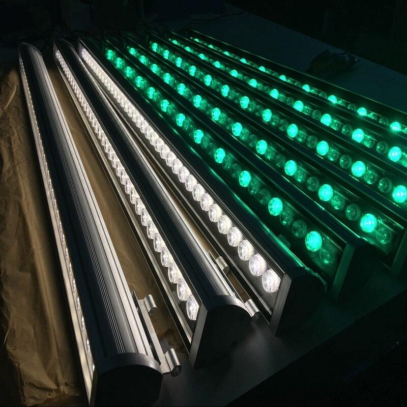 6 pcs iluminação Profissional 36 W IP65 Warm White/Branco Azul Vermelho RGB Led Wall Washer Luz Ao Ar Livre À Prova D' Água AC85-260V