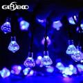 20-LED Solar Light Diamond Shaped LED String Fairy Lamp 2PCS/LOT