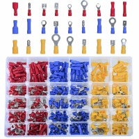 480Pcs Insulated Wiring Terminals Wire Connectors Assortment Electrical Crimp Terminals Kit Crimp Connectors Cable Terminal|Terminals| |  -