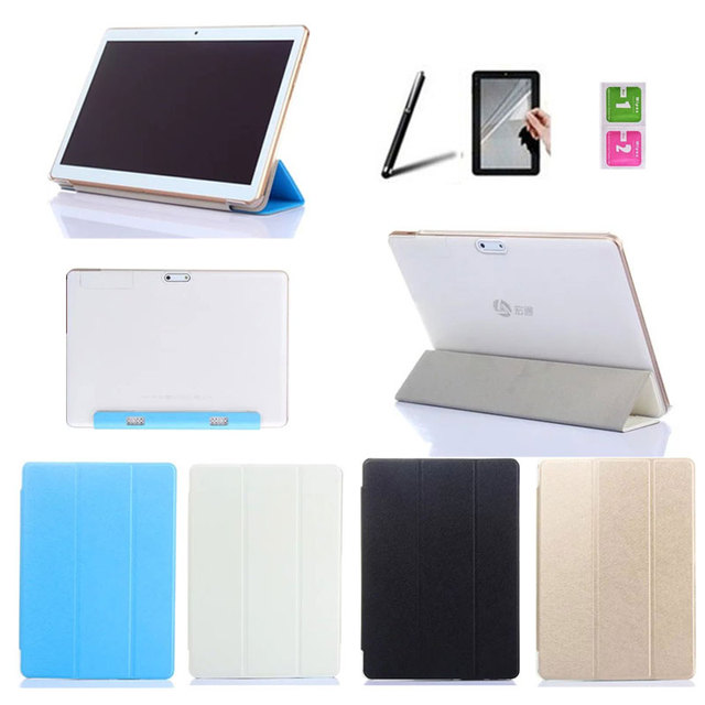 tri fold book cover color ultra slim pu leather transparent back case for ibowin tablet