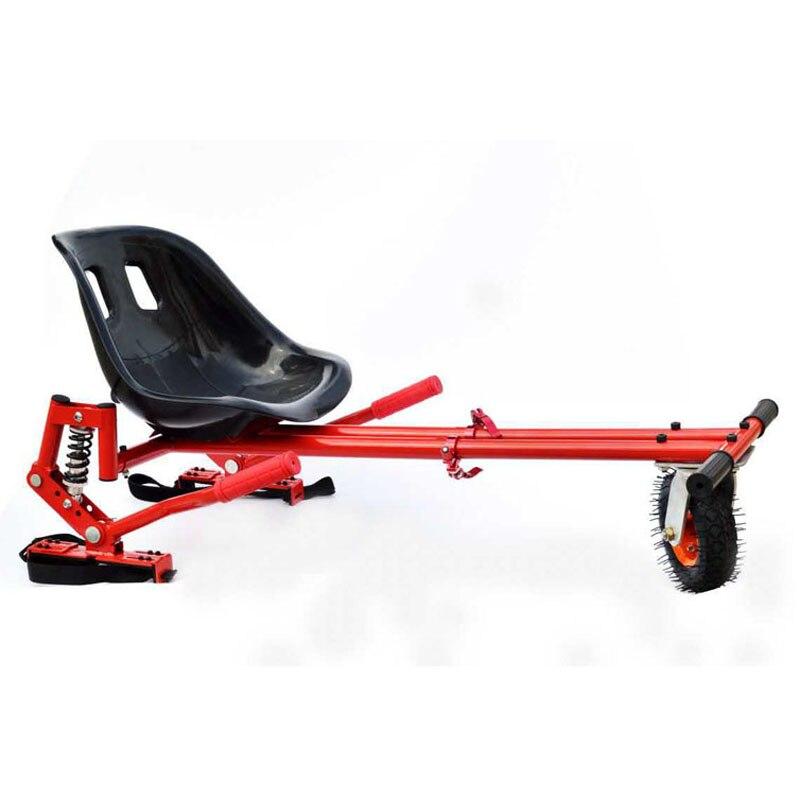US $179 0 |Newest Hoverkart Seat Hoverboard Go Kart Frame With Damper  Karting Kart Frame Skateboard Karting Seats for Self Balance Scooter-in  Scooter