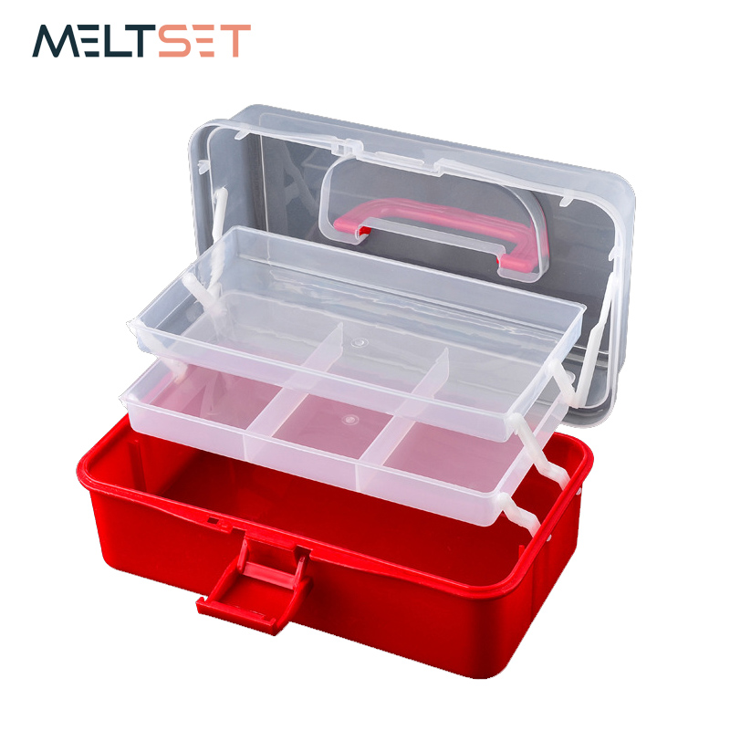 3 Layer Foldable Transparent Jewelry Box Food Container Folding Makeup Organizer Earrings Necklace Ring Storage Box Beauty Case