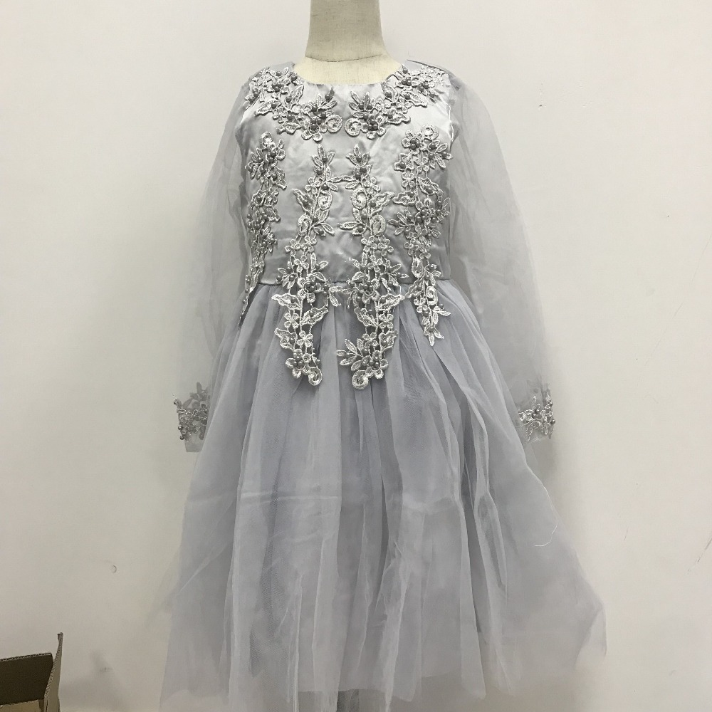 Surferfish girls Children Dress Long sleeve Party Holiday Wedding Wear  Formal Dress Tulle Princess Valentine s Party Dress 4 12T-in Dresses from  Mother ... c48a6989fbf1