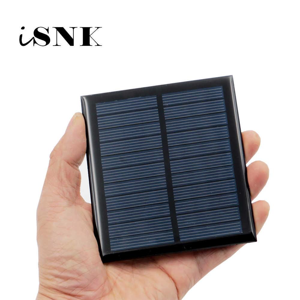 لوحة طاقة شمسية 5.5 V البسيطة الشمسية نظام DIY ل بطارية شحن الهاتف شواحن المحمولة 0.44 W 0.55 W 0.6 W 0.88 W 1 W 1.6 W الخلايا الشمسية
