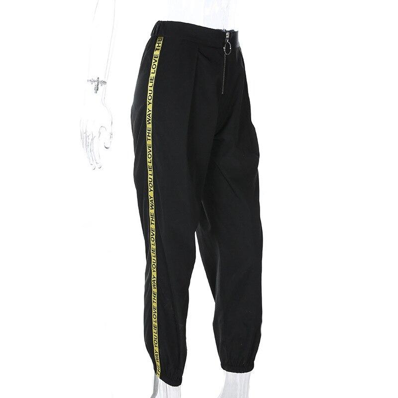 Pantalones longitud Moda Primavera Mujeres De Lápiz Cintura Patchwork Negro Casual Alta Tobillo Elástica AvIqrv