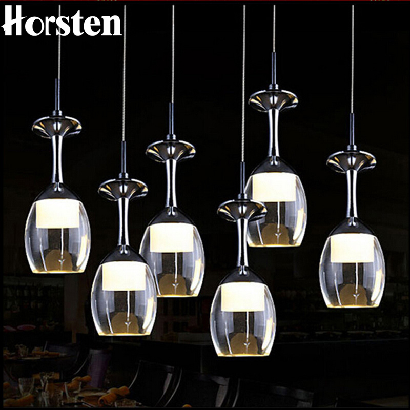 Contemporary Creative Wine Cup Shape Led Pendant Light K9 Crystal Pendant Lighting Fixtures Pendant Lights For Kitchen BarContemporary Creative Wine Cup Shape Led Pendant Light K9 Crystal Pendant Lighting Fixtures Pendant Lights For Kitchen Bar