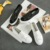 Remache de La Nueva Manera 2017 Negro Blanco Mujeres Casual Shoes Resbalón de Primavera Transpirable Zapatos de Lona Vulcanizar Calzado Plataforma D221