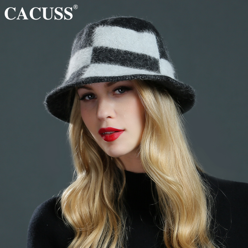 CACUSS Women's Wool Fedoras Elegant Europe Style Hats Warm Wool Casual Female Fedoras Cap Travel High Quality Hats For Women