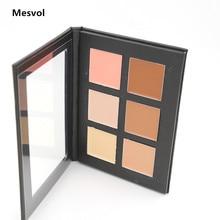 Cream Contour Palette Kit Pro 6 Colors Concealer Makeup Palette 1pcs Concealer Face Primer Net 30g All Skin Types Net 30g
