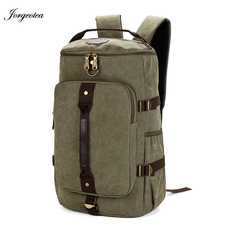 Jorgeolea Travel Large Capacity Backpack Male Luggage Shoulders Bag Notebook Backpaking Men Functional Versatile Bag E1228