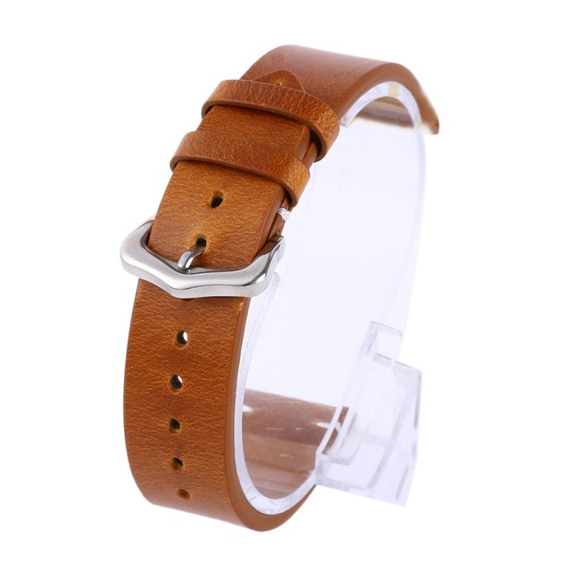 18 20 22mm Man Women Handmade Leather Brown Black Wrist Watch Band Strap Belt Wa