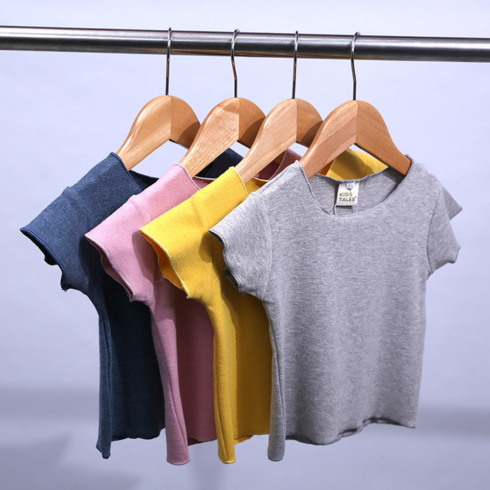Baby Girls Soft Short Sleeve Blouse Tops T-Shirt Summer Casual Tops Clothes