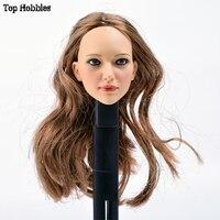 1/6 Head Sculpt Female doll Body And Head 1:6 Action Figure Head Sculpt Accessories KUMIK Custom Chief Fit 12 Inch Hottoys