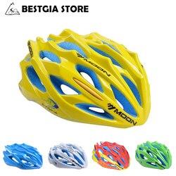 Księżyc Ultralight kask rowerowy Casco Ciclismo Mountain Road kask rowerowy 28 otwory PC + EPS kask na rower górski sieć na owady wewnętrzna 250g w Kaski rowerowe od Sport i rozrywka na