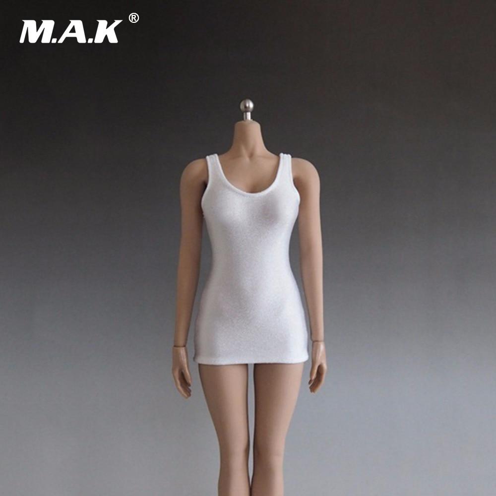 1/6 весы женский жилет для фигурки мини платье модели аксессуары для 12 дюймов женский белый красный